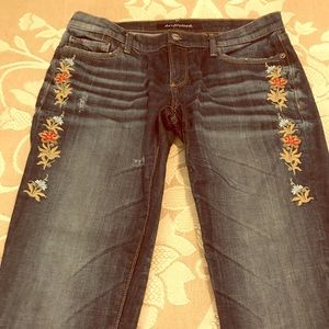 Driftwood Embroidery on Skinny Jeans